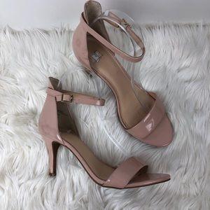 BP Strappy nude heels luminate